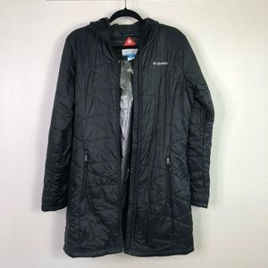 Columbia Mighty Lite Hooded Puffer Black Jacket